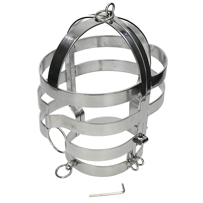 STEEL SLAVE HEAD CAGE & COLLAR