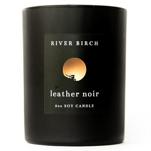 Leather Noir -Leather & Mahogany Woods