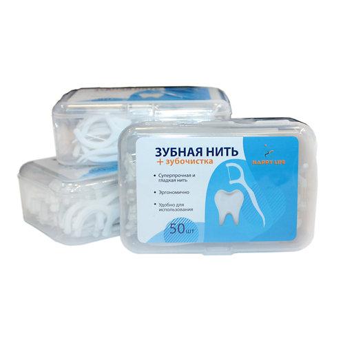 Зубная нить с зубочисткой 10 шт