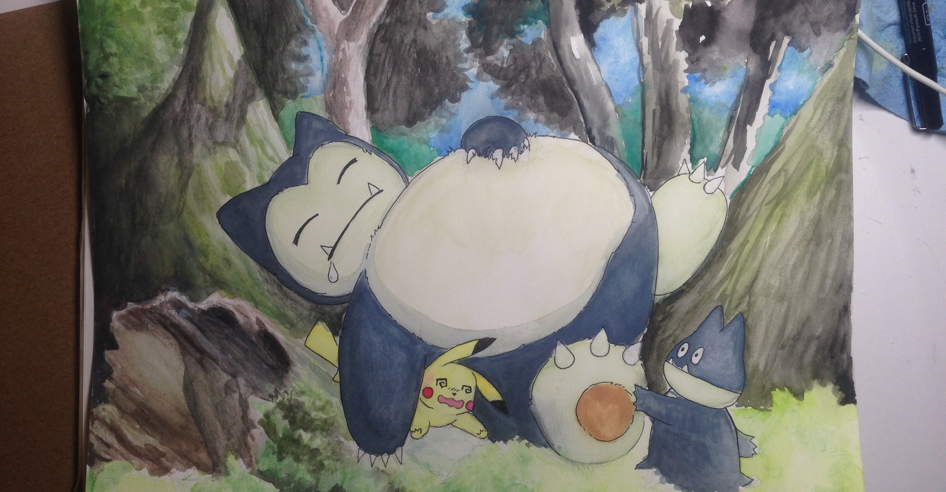 Snorlax watercolor.jpg