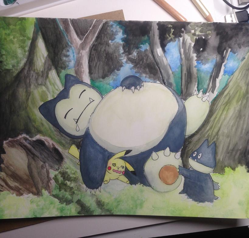 Snorlax watercolor.jpg