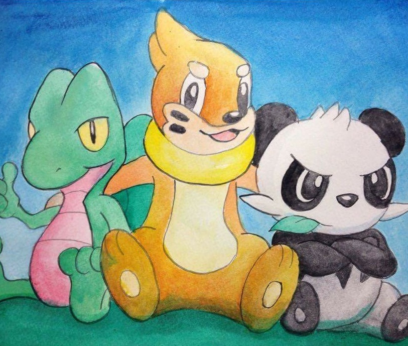 Pokemon starters Watercolor.jpg