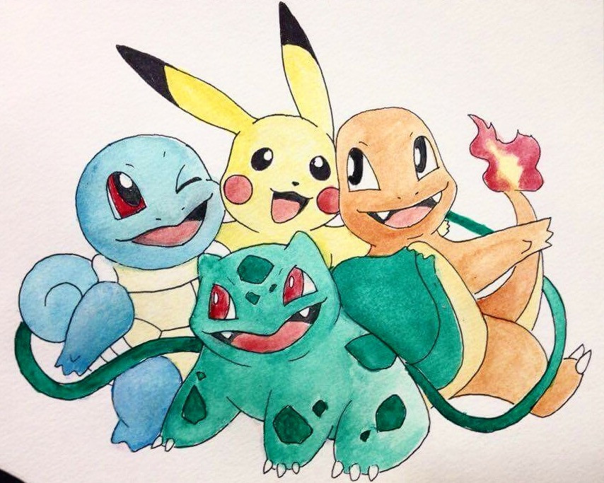Bulbasaur squirttle charmander pikachu w