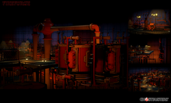 Engine room of Queen Mary