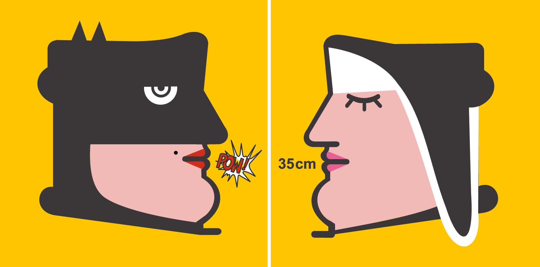 Autore: IABO Titolo: Madre Snaturata (Catwoman & Monaca di Monza)  Tecnica: Acrilico e spray su tela Dimensione: dittico 70x140 cm. Edizione di 5 pezzi Anno: 2011 (Collezione Privata)  Title: Übermensch (Friedrich Nietzsche & Superman) Technique: Acrylic and spray on canvas Dimension: Diptych 70x140 cm. Edition of 5 pieces Year: 2011 (Private collection)