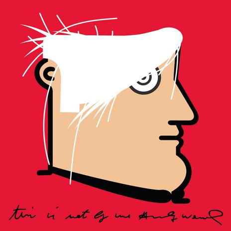 """Autore: IABO Titolo: """"This is not by me"""" (Andy Warhol) Tecnica: Acrilico e spray paint su tela Dimensione: 70x70x15 cm. Edizione di 5 pezzi Anno: 2018  Author: IABO Title:""""This is not by me"""" (Andy Warhol) Technique: Acrylic and spray paint on canvas Dimension: 70x70x15 cm. Edition of 5 pieces Year: 2018"""