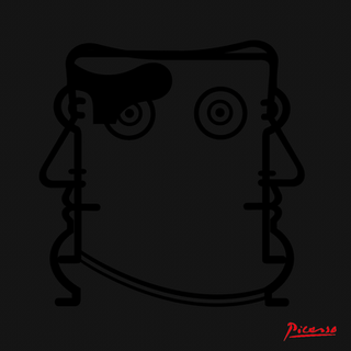 """Autore: IABO Titolo: """"Iablo Picasso"""" (Pablo Picasso) Black version Tecnica: Acrilico e spray paint su tela Dimensione: 20x20x15 cm. Edizione di 5 pezzi Anno: 2018 (Collezione privata - Roma)  Author: IABO Title:""""Iablo Picasso"""" (Pablo Picasso) - Black version Technique: Acrylic and spray paint on canvas Dimension: 20x20x15 cm. Edition of 5 pieces Year: 2018 (Private collection - Rome, Italy)"""