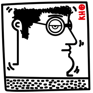 """Autore: IABO Titolo: """"Untitled"""" (Keith Haring) Tecnica: Acrilico e spray paint su tela Dimensione: 50x50x15 cm. Edizione di 5 pezzi Anno: 2018  Author: IABO Title:""""Untitled"""" (Keith Haring) Technique: Acrylic and spray paint on canvas Dimension: 50x50x15 cm. Edition of 5 pieces Year: 2018"""