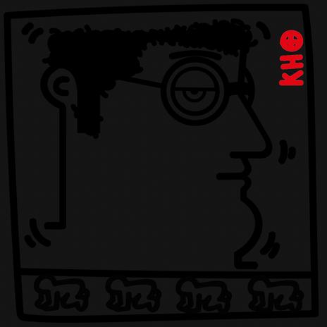 """Autore: IABO Titolo: """"Radiant Baby"""" (Keith Haring) Black version Tecnica: Acrilico e spray paint su tela Dimensione: 20x20x15 cm. Edizione di 5 pezzi Anno: 2018 (Collezione Privata - Roma)  Author: IABO Title:""""Untitled"""" (Keith Haring) Black version Technique: Acrylic and spray paint on canvas Dimension: 20x20x15 cm. Edition of 5 pieces Year: 2018 (Private collection - Rome, Italy)"""