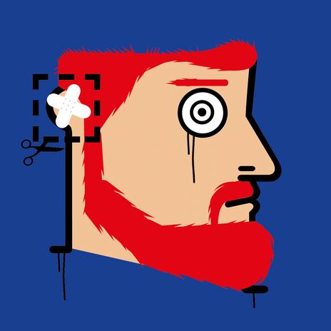 """Autore: IABO Titolo: """"Tagliare qui"""" (Vincent Van Gogh) Tecnica: Acrilico e spray paint su tela Dimensione: 70x70x15 cm. Edizione di 5 pezzi Anno: 2018  Author: IABO Title:""""Cut Here"""" (Vincent Van Gogh) Technique: Acrylic and spray paint on canvas Dimension: 70x70x15 cm. Edition of 5 pieces Year: 2018"""