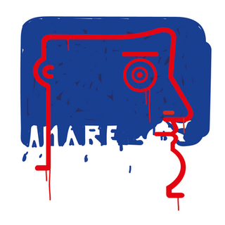 """Autore: IABO Titolo: """"Amore, amaro, amare"""" (Mario Schifano - tribute) Tecnica: Acrilico e spray paint su tela Dimensione: 50x50x15 cm. Edizione di 5 pezzi Anno: 2018  Author: IABO Title: """"Amore, amaro, amare"""" (Mario Schifano - tribute) Technique: Acrylic and spray paint on canvas Dimension: 50x50x15 cm. Edition of 5 pieces Year: 2018"""