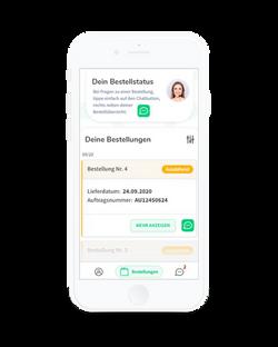 Alberta Patienten-App - Bestellübersicht