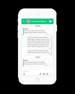 Alberta Patienten-App - Chat
