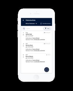 Alberta App - Patientenliste
