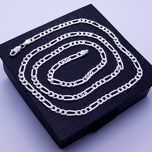 Figaro chain necklace | 4mm | 55cm