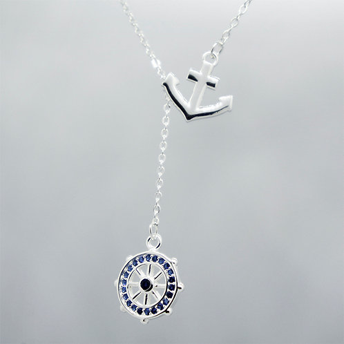 Anchor & rudder necklace