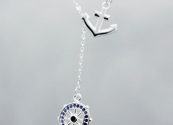 Anchor & rudder necklace
