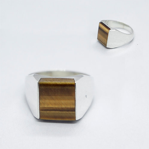 Tiger eye stone ring #11.5