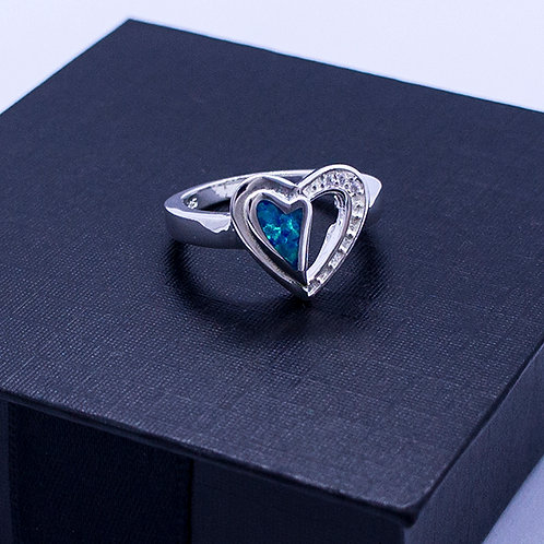 Heart silhouette ring #6.5
