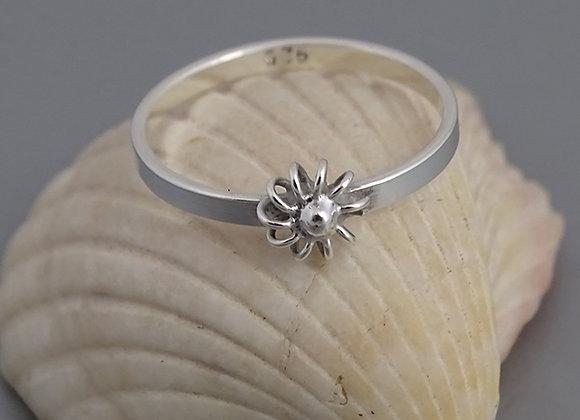Anillo medio dedo flor de alambre