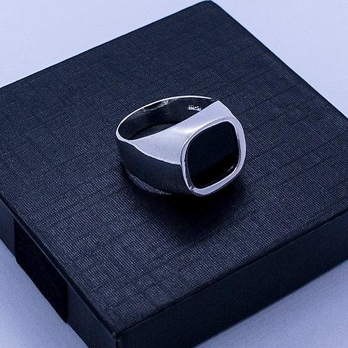 Black stone ring #9