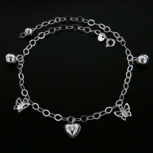 Bells anklet with butterflies