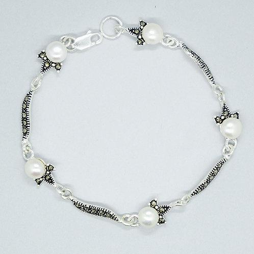 Pearls marcasite bracelet