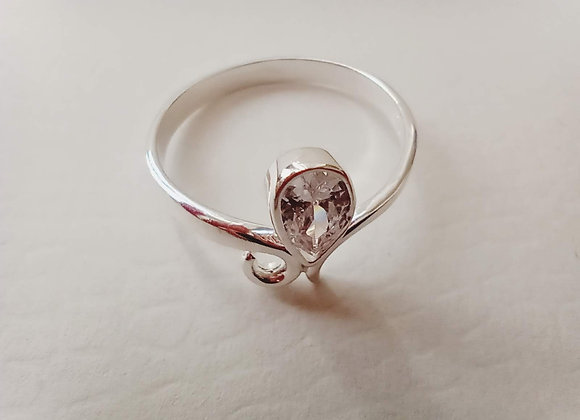 Drop shaped solitaire ring #8