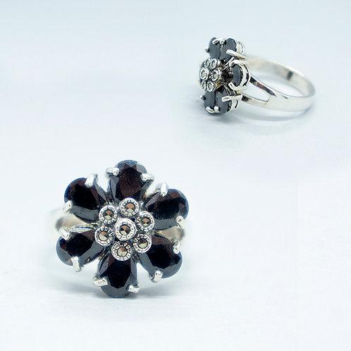 Marcasite flower ring #8