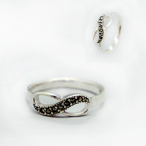 Infinity marcasite ring #6.5