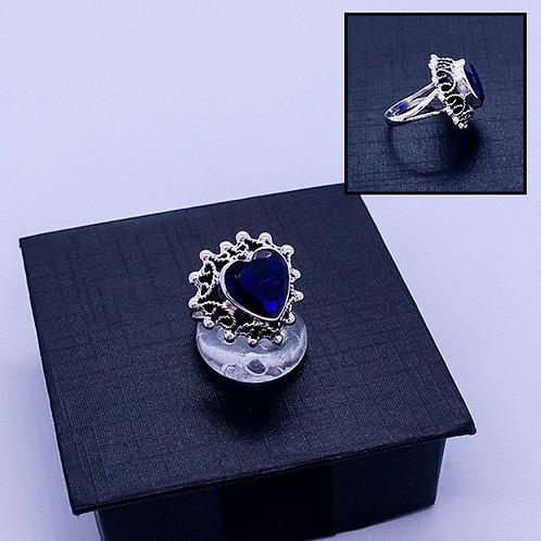 Crystal heart ring #6.5