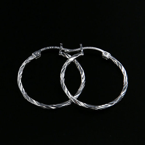 Torzal hoop earrings