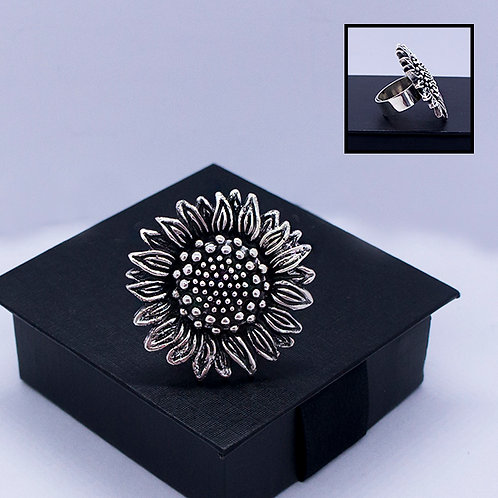 BIG sunflower ring #adjustable