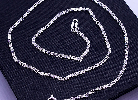 Torzal chain necklace   1.7mm   40cm
