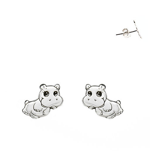 Hippopotamus earrings