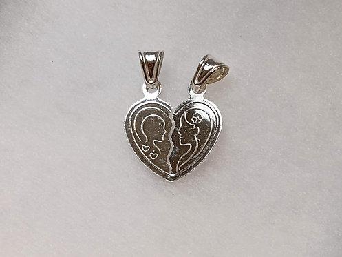 Broken heart pendant