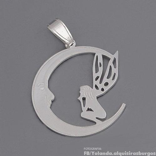 Fairy on the moon pendant