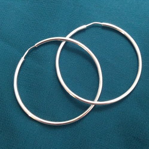 Tube hoop earrings