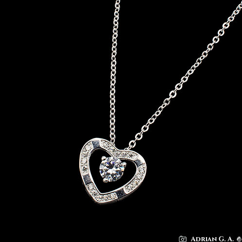 Heart with zirconias necklace