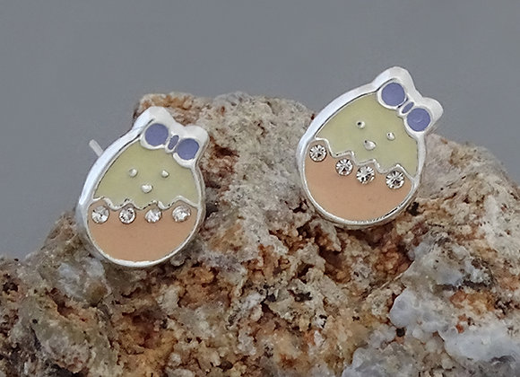 Egg earrings