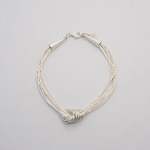 Liquid silver bracelet | 10 threads