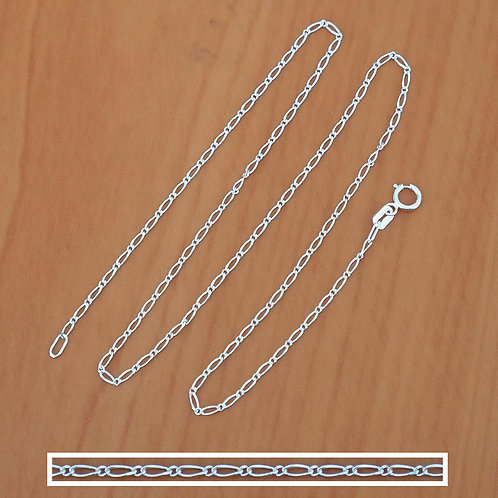 Figaro chain necklace  1*1 | 1.5mm | 45cm