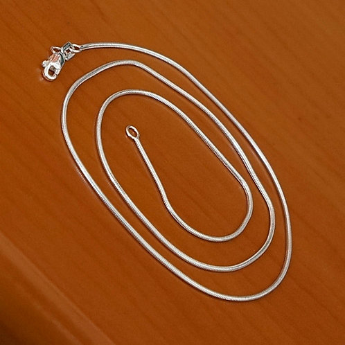 Snake chain necklace | 1mm | 55cm