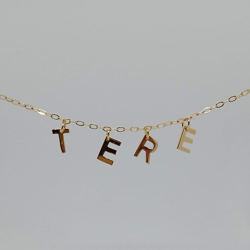 Name necklace | Gold plated