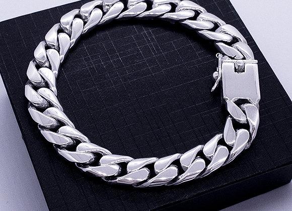 Flat chain bracelet   22cm   10mm
