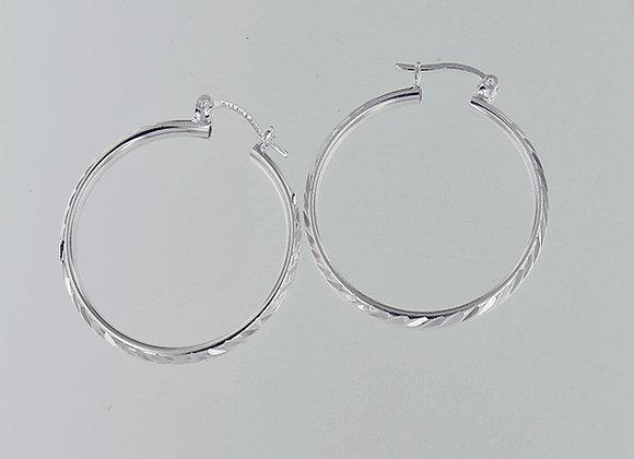 Arracadas de tubo | Corte diamantado