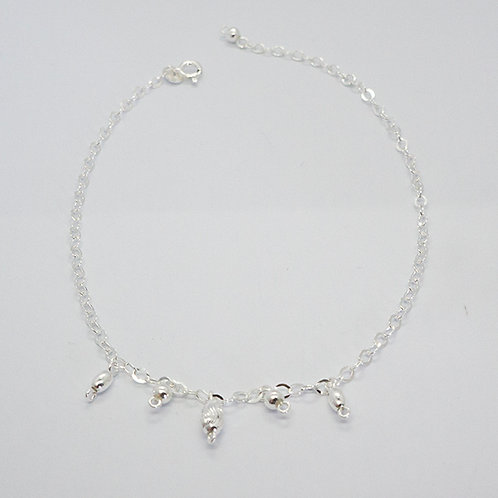Oval charms anklet