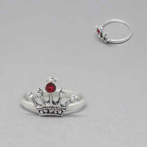 Crown midi ring