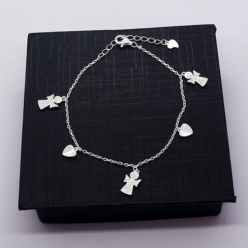 Bracelet with angel charms