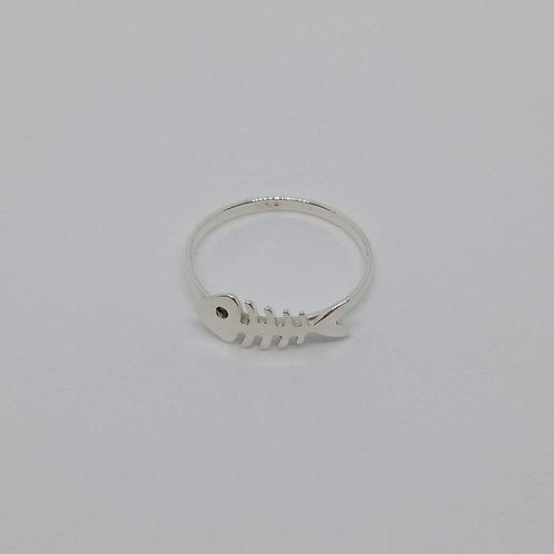 Fish skeleton ring #8